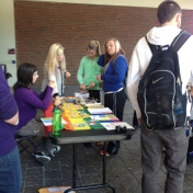 Our information table received lots of visitors!