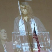 WGS Minor Sandra Carpenter delivers the commencement address at the EKU Spring 2012 Graduation. Go, Sandi!