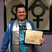 WGS Minor Joey Minton with his WGS stole and certificate. Congrats, Joey!