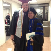 WGS Minor Nick Wade and Dr. Linda Frost, Director of the EKU Honors Program and fabulous friend of WGS.