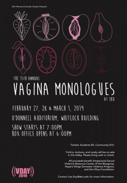 15th Annual Vagina Monologues at EKU Event Poster
