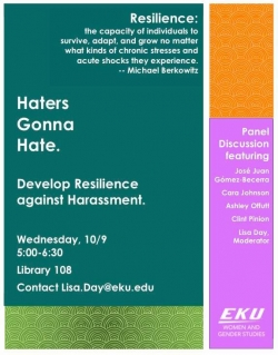 Haters Gonna Hate: Develop Resilience against Harassment - A Panel Discussion